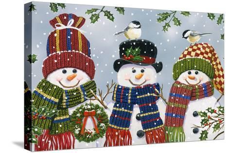 Snowman Trio-William Vanderdasson-Stretched Canvas Print