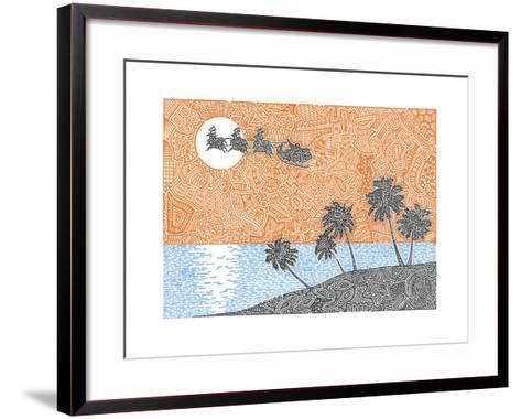 Christmas Palms-Viz Art Ink-Framed Art Print