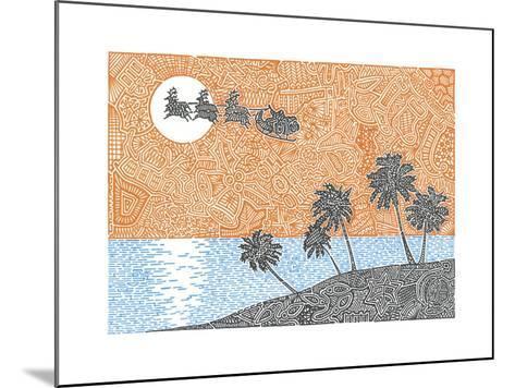 Christmas Palms-Viz Art Ink-Mounted Giclee Print