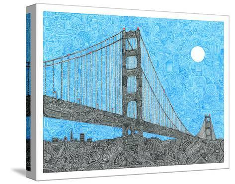 Welcome to the Bay-Viz Art Ink-Stretched Canvas Print
