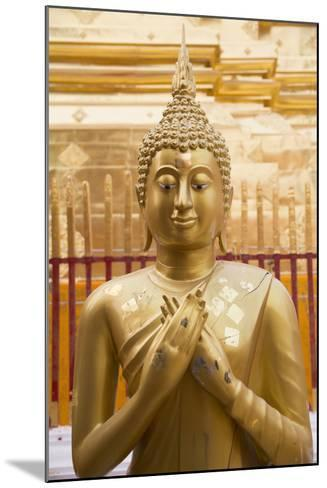 Thailand, Chiang Mai Province, Wat Phra That Doi Suthep. Buddha Statue-Emily Wilson-Mounted Photographic Print
