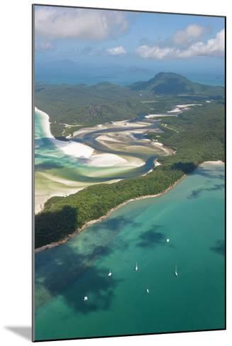 Hill Inlet Whitsunday Islands, Queensland, Australia-Peter Adams-Mounted Photographic Print