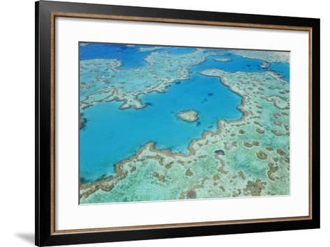 Aerial View of Heart Reef, Great Barrier Reef, Queensland, Australia-Peter Adams-Framed Art Print