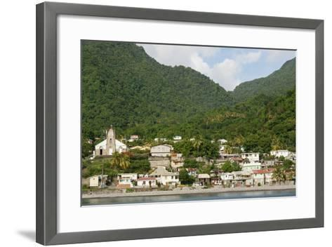 Dominica, Roseau, View of Villages South of Roseau on the Green Hills-Anthony Asael-Framed Art Print