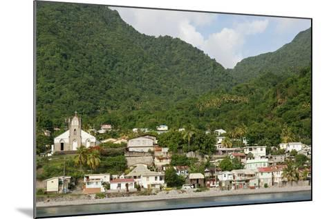 Dominica, Roseau, View of Villages South of Roseau on the Green Hills-Anthony Asael-Mounted Photographic Print
