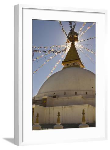 Dhodina Chorten Is Modeled on the Stupa of Boudhanath. Thimphu, Bhutan-Howie Garber-Framed Art Print