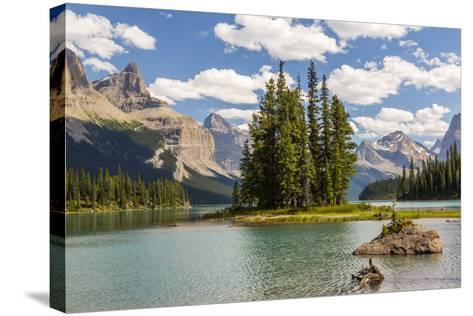 Canada, Alberta, Jasper National Park, Maligne Lake and Spirit Island-Jamie & Judy Wild-Stretched Canvas Print