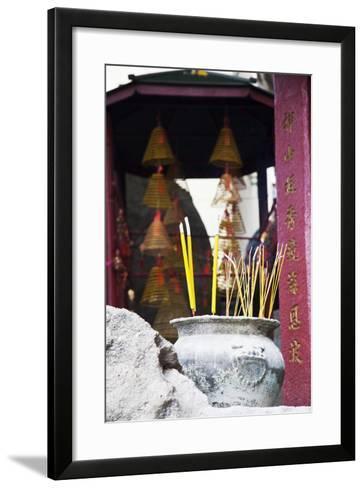 Asia, China, Macau, A-Ma Temple in Macau with Incense Burning-Terry Eggers-Framed Art Print