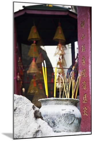 Asia, China, Macau, A-Ma Temple in Macau with Incense Burning-Terry Eggers-Mounted Photographic Print