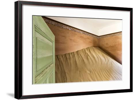 Namibia, Kolmanskop, Sperrgebeit. Abandoned House Interior-Wendy Kaveney-Framed Art Print
