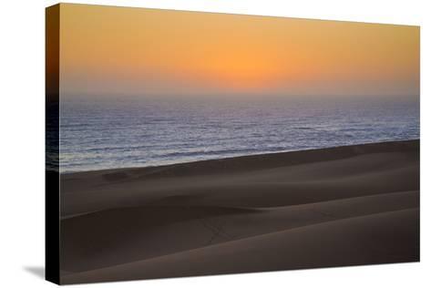 Namibia, Namib Desert, Swakopmund. Sunset on Skeleton Coast-Wendy Kaveney-Stretched Canvas Print