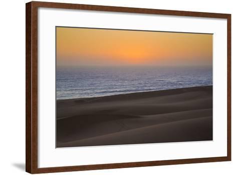 Namibia, Namib Desert, Swakopmund. Sunset on Skeleton Coast-Wendy Kaveney-Framed Art Print