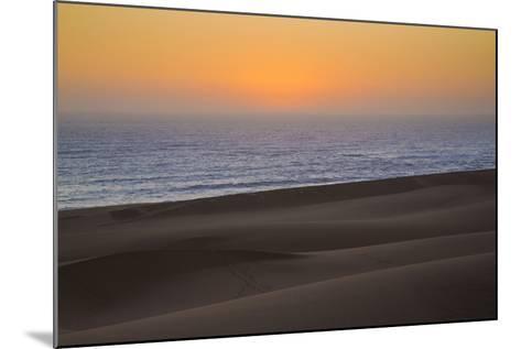 Namibia, Namib Desert, Swakopmund. Sunset on Skeleton Coast-Wendy Kaveney-Mounted Photographic Print