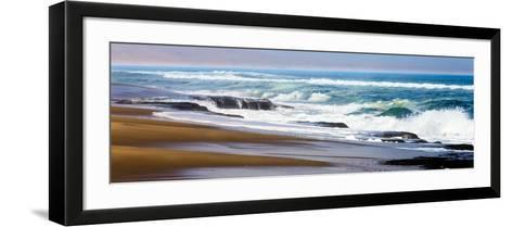 Skeleton Coast, Namibia. Surf-Janet Muir-Framed Art Print