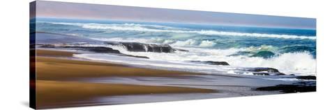 Skeleton Coast, Namibia. Surf-Janet Muir-Stretched Canvas Print