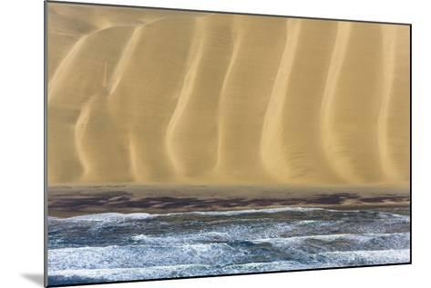 Namibia. Aerial of Namibian Sand Dunes Meeting the Atlantic Ocean-Janet Muir-Mounted Photographic Print