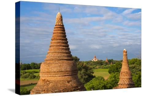 Ancient Temples and Pagodas, Bagan, Mandalay Region, Myanmar-Keren Su-Stretched Canvas Print
