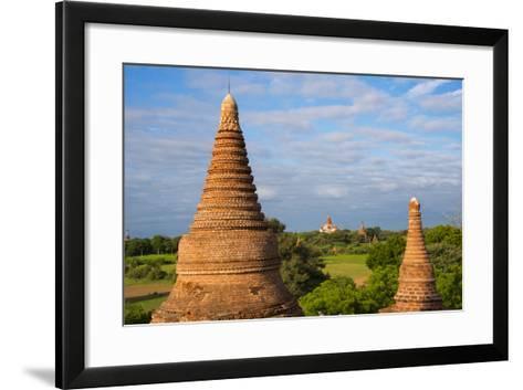 Ancient Temples and Pagodas, Bagan, Mandalay Region, Myanmar-Keren Su-Framed Art Print