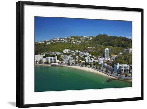 Oriental Bay, and Mt Victoria, Wellington, North Island, New Zealand-David Wall-Framed Art Print