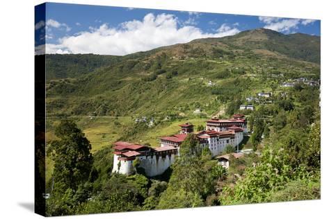 Tongsa Dzong, Buddhist Monastery and Fortress, in Tongsa, Bhutan-Peter Adams-Stretched Canvas Print