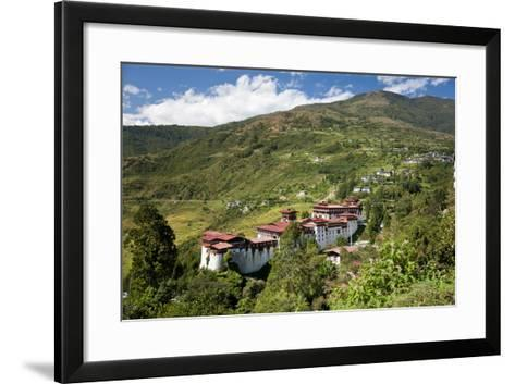 Tongsa Dzong, Buddhist Monastery and Fortress, in Tongsa, Bhutan-Peter Adams-Framed Art Print