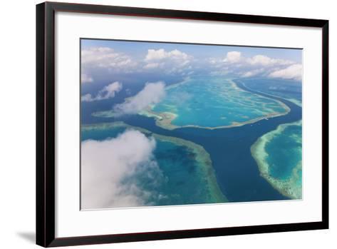 Aerial View of the Great Barrier Reef, Queensland, Australia-Peter Adams-Framed Art Print