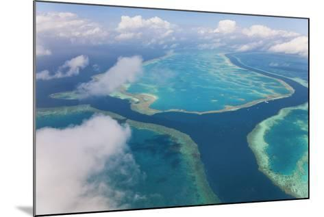 Aerial View of the Great Barrier Reef, Queensland, Australia-Peter Adams-Mounted Photographic Print