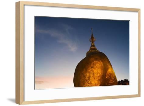 Kyaiktiyo Pagoda at Sunset, Mon State, Myanmar-Keren Su-Framed Art Print