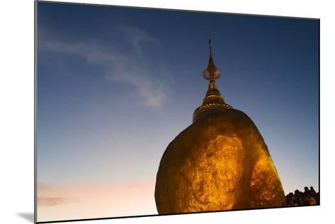 Kyaiktiyo Pagoda at Sunset, Mon State, Myanmar-Keren Su-Mounted Photographic Print