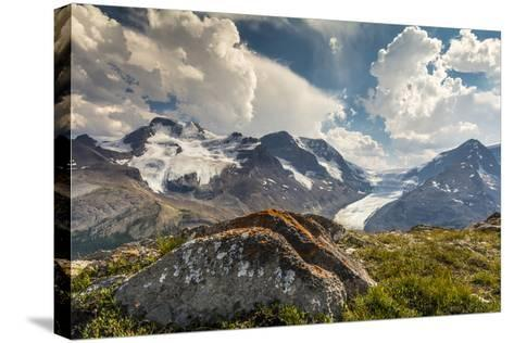 Mt. Athabasca, and Mt. Andromeda and Columbia Icefield, Jasper NP-Howie Garber-Stretched Canvas Print