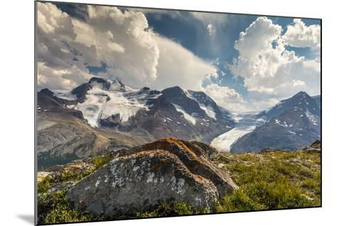 Mt. Athabasca, and Mt. Andromeda and Columbia Icefield, Jasper NP-Howie Garber-Mounted Photographic Print