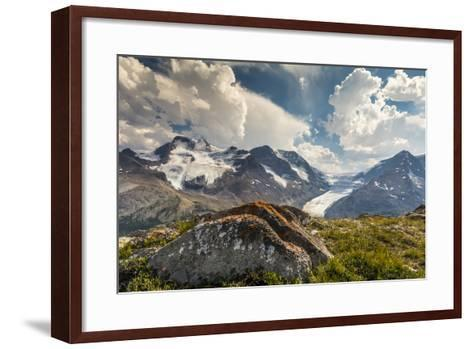 Mt. Athabasca, and Mt. Andromeda and Columbia Icefield, Jasper NP-Howie Garber-Framed Art Print