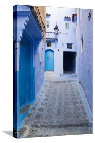 Chefchaouen, Morocco. Narrow Alleyways for Foot Traffic Only-Emily Wilson-Stretched Canvas Print