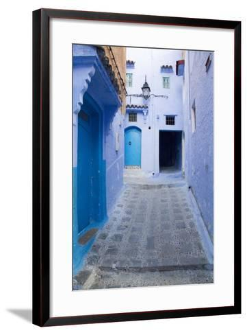 Chefchaouen, Morocco. Narrow Alleyways for Foot Traffic Only-Emily Wilson-Framed Art Print