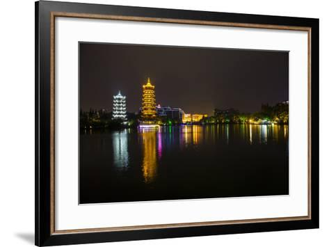 Gold and Silver Pagoda Evening Light, Guilin, China-Darrell Gulin-Framed Art Print
