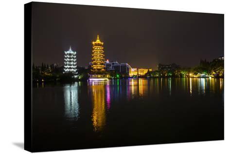 Gold and Silver Pagoda Evening Light, Guilin, China-Darrell Gulin-Stretched Canvas Print