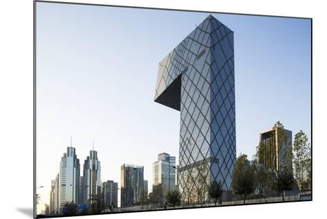 China, Beijing, Gleaming Steel and Glass Cctv Building-Paul Souders-Mounted Photographic Print