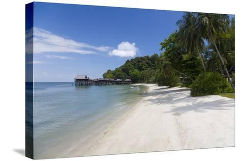 Tropical Beach, Palau Pangkor Laut, West Coast, Malaysia-Peter Adams-Stretched Canvas Print