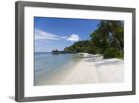 Tropical Beach, Palau Pangkor Laut, West Coast, Malaysia-Peter Adams-Framed Art Print