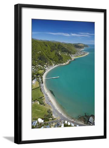 Days Bay, Eastbourne and Wellington Harbour, Wellington, New Zealand-David Wall-Framed Art Print