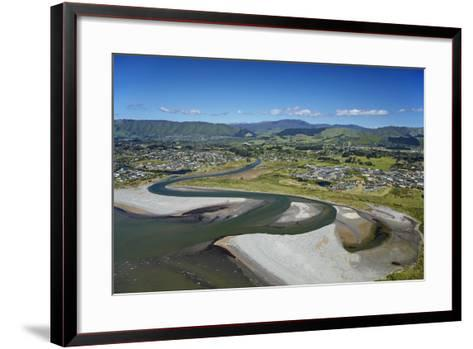 Waikanae River Mouth, Kapiti Coast, Wellington Region, New Zealand-David Wall-Framed Art Print