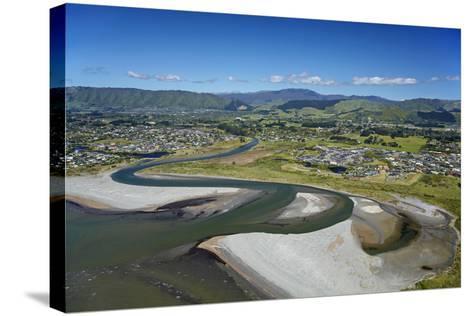 Waikanae River Mouth, Kapiti Coast, Wellington Region, New Zealand-David Wall-Stretched Canvas Print