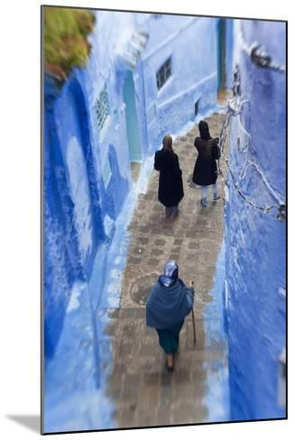 Narrow Lane, Chefchaouen, Morocco-Peter Adams-Mounted Photographic Print