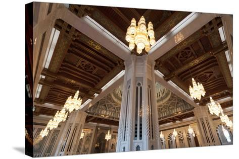 Sultan Qaboos Grand Mosque in Muscat, Oman-Sergio Pitamitz-Stretched Canvas Print