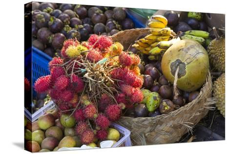 Indonesia, Bali. Morning Flowers, Fruit and Vegetable Market-Emily Wilson-Stretched Canvas Print
