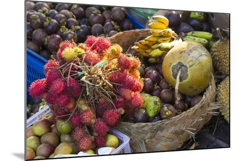 Indonesia, Bali. Morning Flowers, Fruit and Vegetable Market-Emily Wilson-Mounted Photographic Print