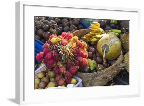 Indonesia, Bali. Morning Flowers, Fruit and Vegetable Market-Emily Wilson-Framed Art Print