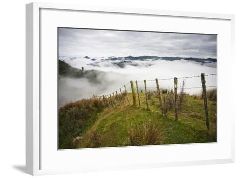 Farmlands in Whakahoro, in the Whanganui NP of New Zealand-Micah Wright-Framed Art Print
