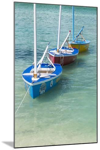 Bahamas, Exuma Island. Boats Moored in Harbor-Don Paulson-Mounted Photographic Print
