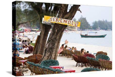 Serendipity Beach Is the Main Beach in Sihanoukville, Cambodia-Micah Wright-Stretched Canvas Print
